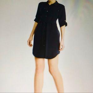 NWOT Banana Republic Elastic waist Shirt Dress